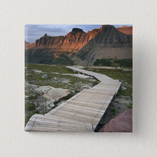 Boardwalk in Waterton Glacier International Pinback Button
