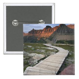 Boardwalk in Waterton Glacier International Pinback Button