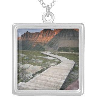 Boardwalk in Waterton Glacier International Silver Plated Necklace