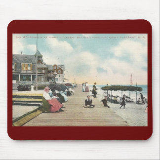 Boardwalk, Point Pleasant, New Jersey Vintage Mouse Pad