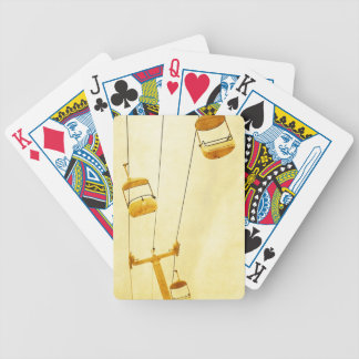 Boardwalk ride, carnival ride, carnival bicycle playing cards
