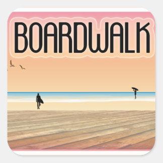 Boardwalk Square Sticker