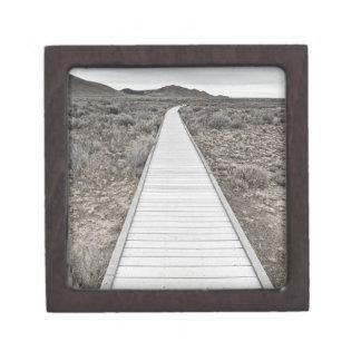 Boardwalk through the desert premium trinket boxes
