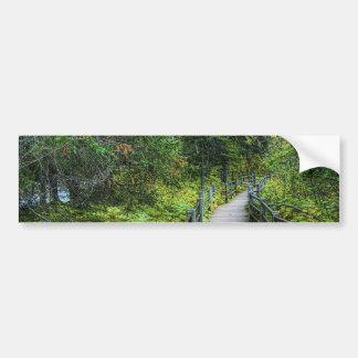 Boardwalk through Woods Bumper Sticker