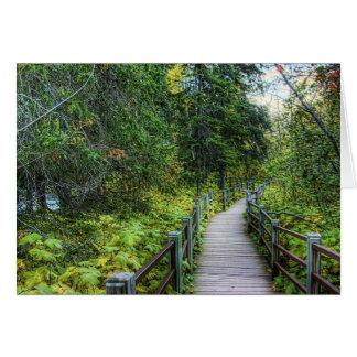Boardwalk through Woods Stationery Note Card