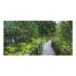 Boardwalk through Woods Personalized Photo Card