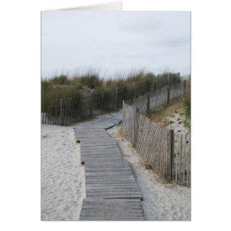 Boardwalk to Beach Greeting Card