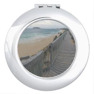 Boardwalk_To_Paradise, _Compact-Mirror. Espejos Maquillaje
