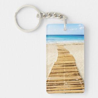 Boardwalk to the Beach and Sea Keychain