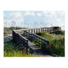 Boardwalk to the beach postcard