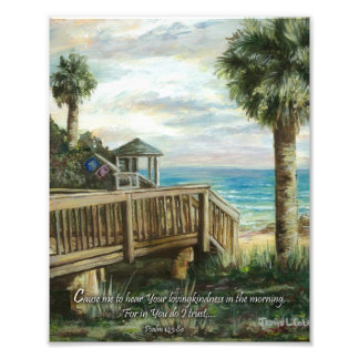 Boardwalk with Life Guard- Psalm 143:8a Photograph