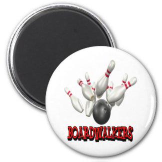 Boardwalkers Bowling Refrigerator Magnets