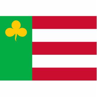 Boarnsterhim, bandera holandesa fotoescultura vertical