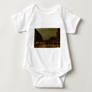 Boars Lane, Leeds by Lamplight by John Atkinson Baby Bodysuit
