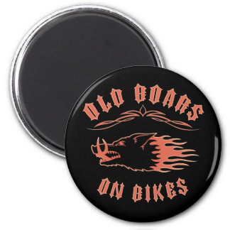 Boars on Bikes 2 Inch Round Magnet