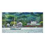 Boat - A good day to sail Customized Photo Card