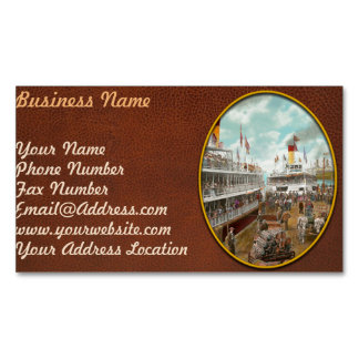 Boat - A vacation to remember - 1901 Business Card Magnet