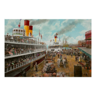 Boat - A vacation to remember - 1901 Poster