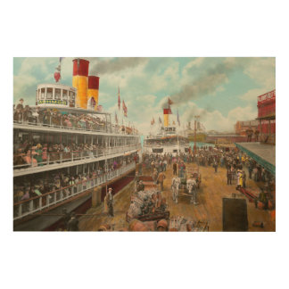 Boat - A vacation to remember - 1901 Wood Wall Art