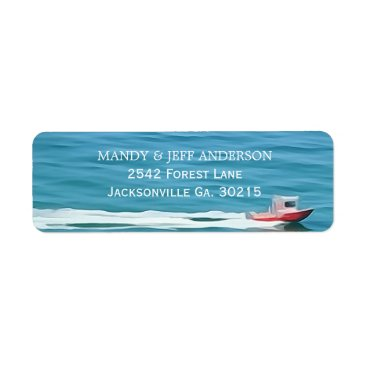 Beach Themed Boat Address Labels