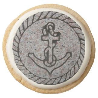 Boat Anchor Round Shortbread Cookies Round Premium Shortbread Cookie