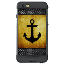 Boat Anchor Silhouette on Grunge LifeProof NÜÜD iPhone 6s Plus Case