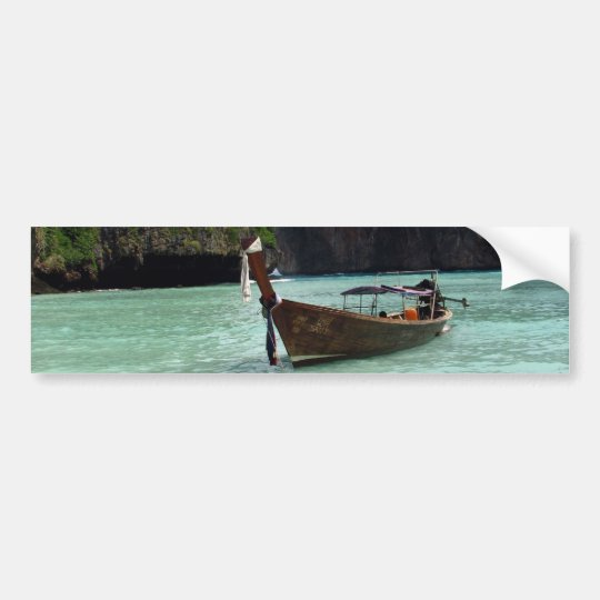 Boat and Beach Bumper Sticker