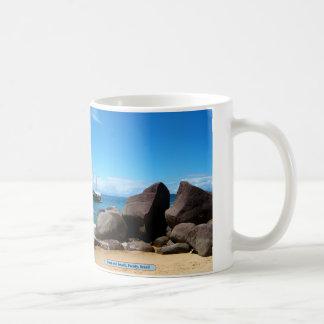 Boat and beach, Paraty, Brazil Coffee Mug