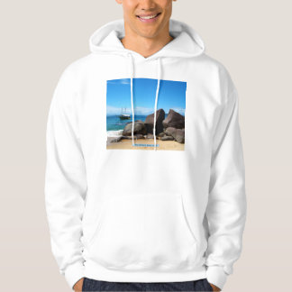 Boat and beach, Paraty, Brazil Hoodie