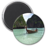 Boat and Beach Refrigerator Magnet