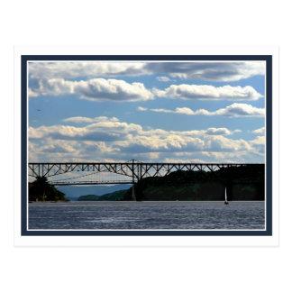 Boat and Bridges Postcard