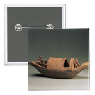 Boat and crew, tomb artefact button