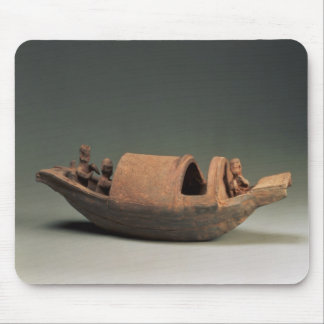 Boat and crew, tomb artefact mouse pad