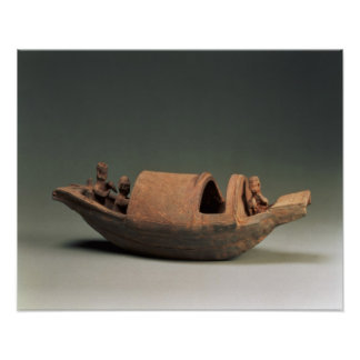 Boat and crew, tomb artefact poster