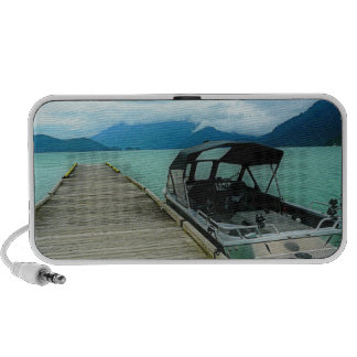 Boat and Dock at Lake Mp3 Speaker