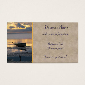 Boat and Heron Business Card