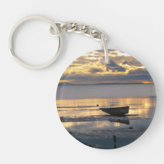 Boat and Heron Keychain