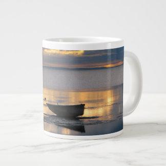 Boat and Heron Large Coffee Mug