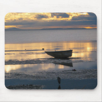 Boat and Heron Mouse Pad