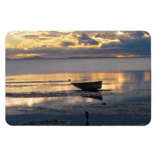 Boat and Heron Rectangular Photo Magnet