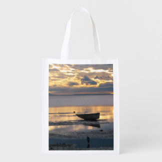 Boat and Heron Reusable Grocery Bag