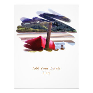 BOAT AND MOUNTAIN LANDSCAPE FLYER