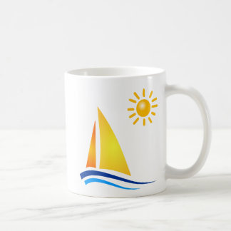 Boat and Sun Coffee Mug