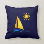 Boat and Sun Pillow