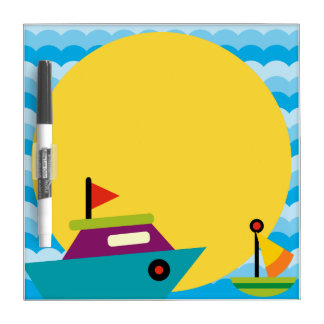 Boat and Water Dry Erase Board