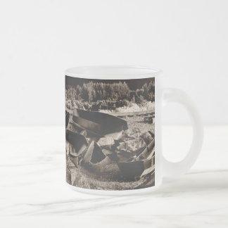 Boat Art Frosted Glass Coffee Mug