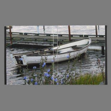 Boat at a dock iPad case