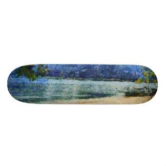 Boat at beach custom skateboard