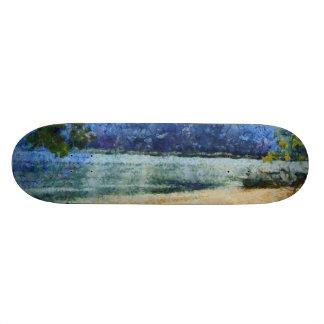 Boat at beach skate board deck