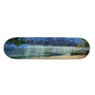 Boat at beach skate board decks